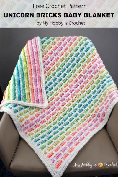 Free Crochet Pattern Unicorn Bricks Baby Blanket
