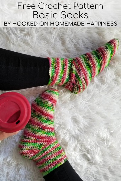 Free Crochet Pattern Basic Socks
