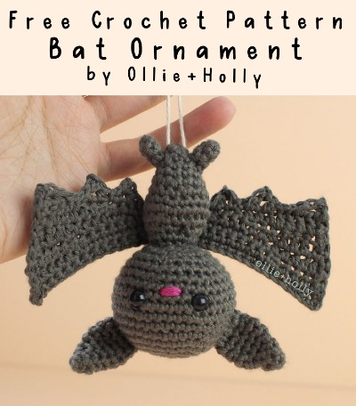 Free Crochet Pattern Bat Ornament