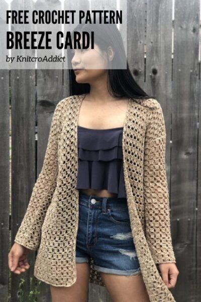Free Crochet Pattern Breeze Cardi