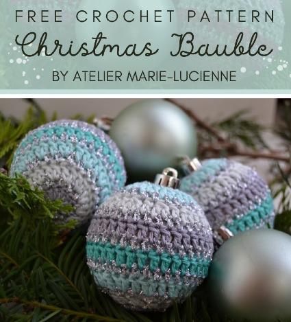 Free Crochet Pattern Christmas Bauble
