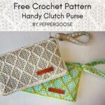 Free Crochet Pattern Handy Clutch Purse