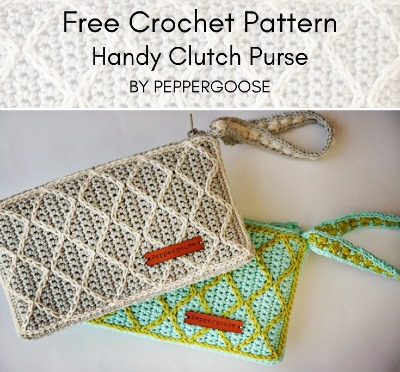 Free Crochet Pattern Handy Clutch Purse
