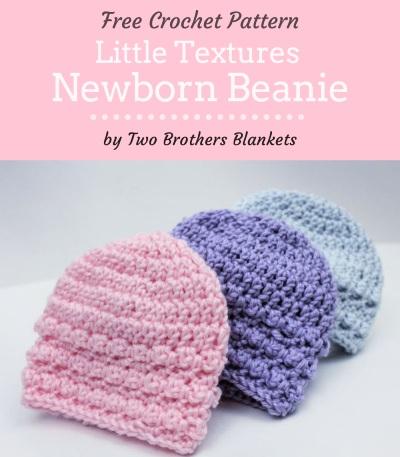 Free Crochet Pattern Little Textures Newborn Beanie