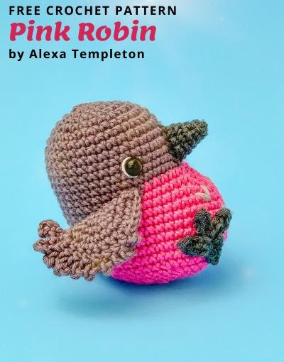 Free Crochet Pattern Pink Robin