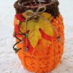 Free Crochet Pattern Pumpkin Jar Cover