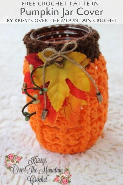 Free Crochet Pattern Pumpkin Jar Cover
