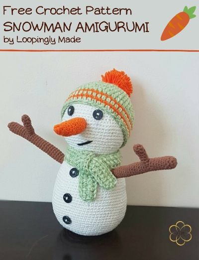 Free Crochet Pattern Snowman Amigurumi