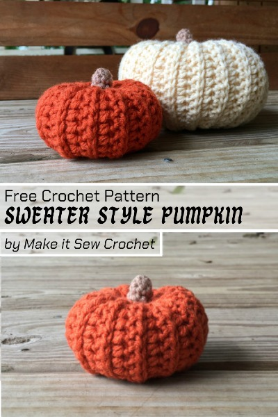 Free Crochet Pattern Sweater Style Pumpkin