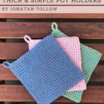 Free Crochet Pattern Thick Simple Pot Holder