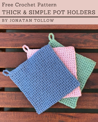Free Crochet Pattern Thick Simple Pot Holder