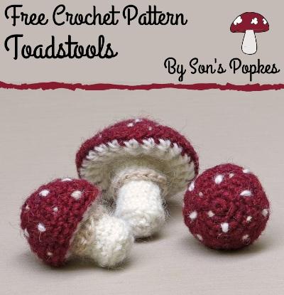 Free Crochet Pattern Toadstools