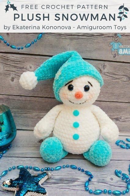 Free Crochet Patter Plush Snowman