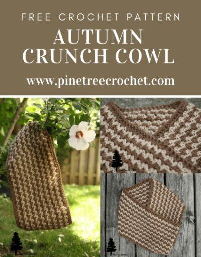 Free Crochet Pattern Autumn Crunch Cowl
