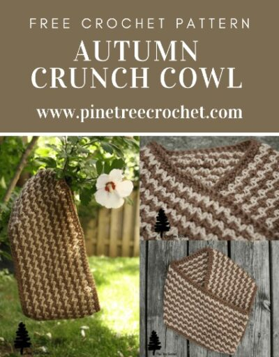 Free Crochet Pattern Autumn Crunch Cowl