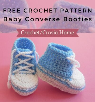 Free Crochet Pattern Baby Converse Booties