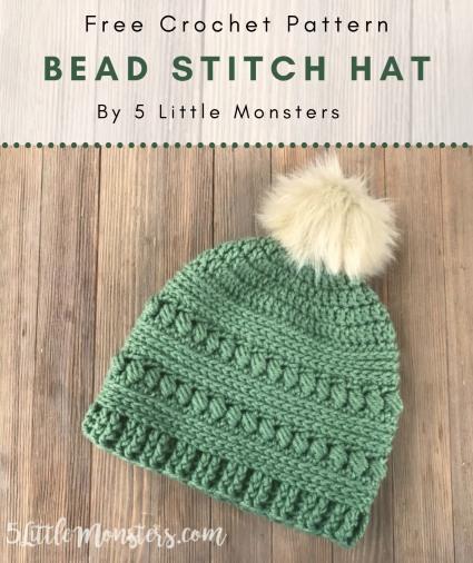 Free Crochet Pattern Bead Stitch Hat