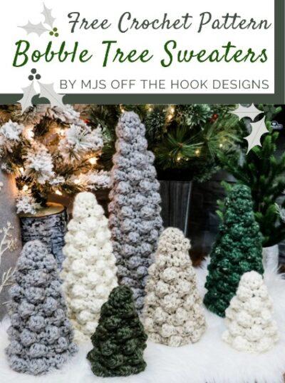 Free Crochet Pattern Bobble Tree Sweaters