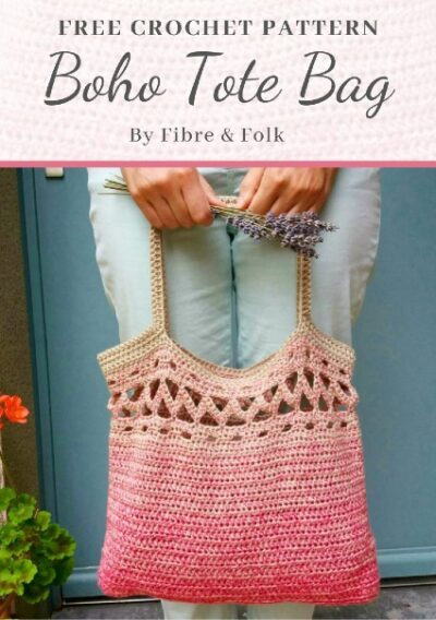 Free Crochet Pattern Boho Tote Bag