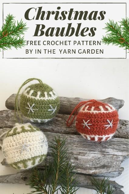 Free Crochet Pattern Christmas Baubles crochet