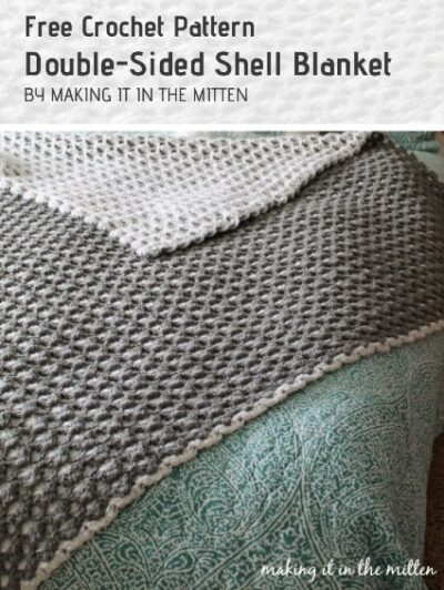 Free Crochet Pattern Double-Sided Shell Blanket