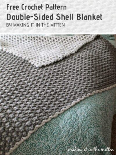 Free Crochet Pattern Double-Sided Shell Blanket
