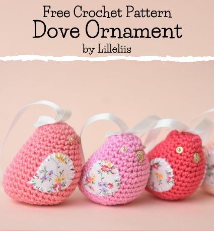 Free Crochet Pattern Dove Ornament