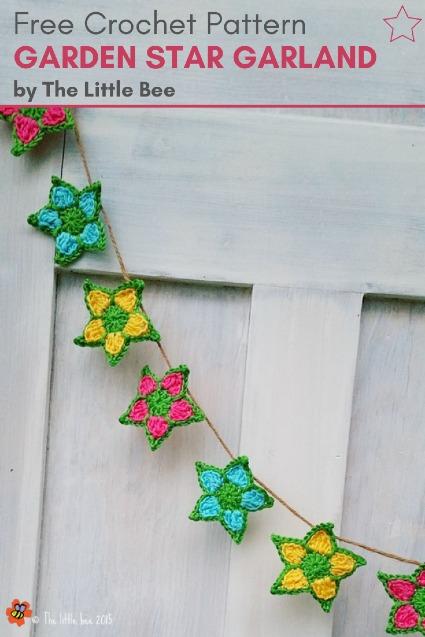 Free Crochet Pattern Garden Star Garland