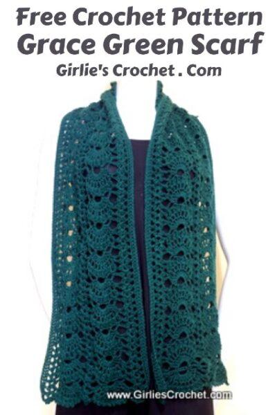 Free Crochet Pattern Grace Green Scarf
