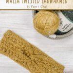 Free Crochet Pattern Malia Twisted Earwarmer