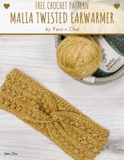 Free Crochet Pattern Malia Twisted Earwarmer