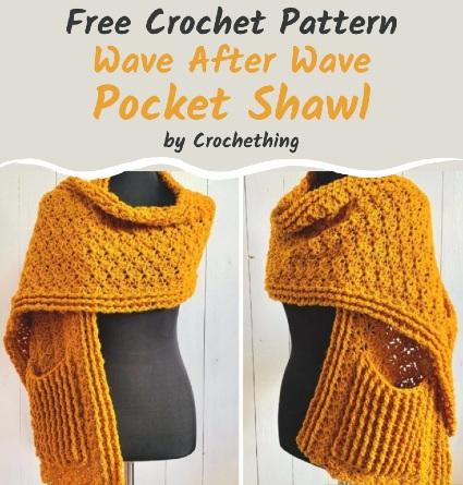 Free Crochet Pattern Pocket Shawl