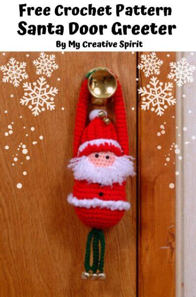 Free Crochet Pattern Santa Door Greeter
