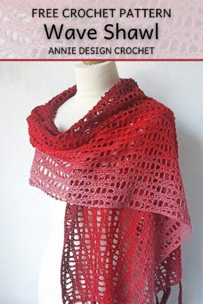 Free Crochet Pattern Wave Shawl