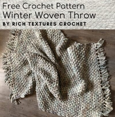 Free Crochet Pattern Winter Woven Throw