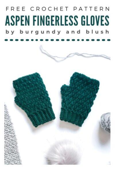 Free Crochet Pattern Aspen Fingerless Gloves