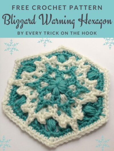Free Crochet Pattern Blizzard Hexagon