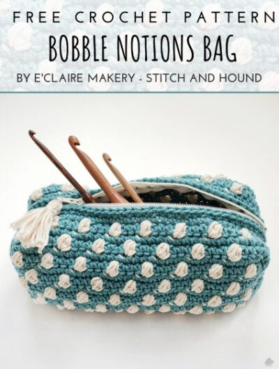 Free Crochet Pattern Boblle Notions Bag Pouch