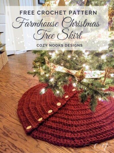 Free Crochet Pattern Christmas Tree Skirt