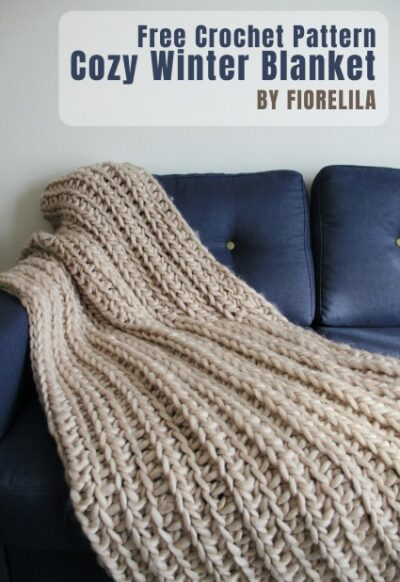 Free Crochet Pattern Cozy Winter Blanket