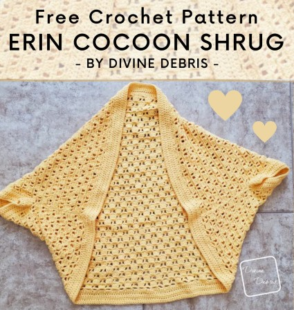 Free Crochet Pattern Erin Cocoon Shrug