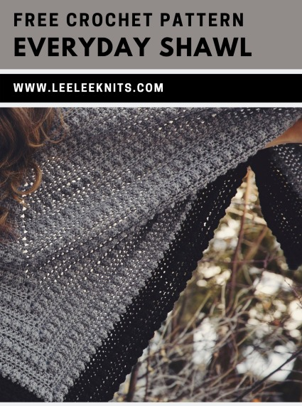 Free Crochet Pattern Everyday Shawl