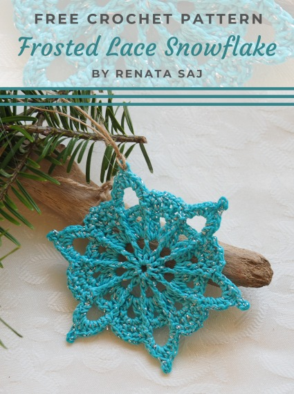 Free Crochet Pattern Frosted Lace Snowflake