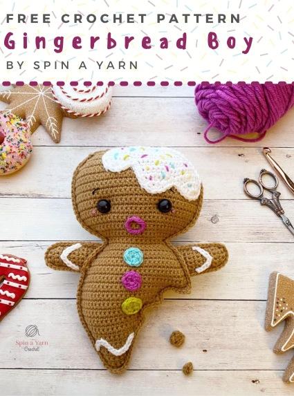 Free Crochet Pattern Gingerbread Boy