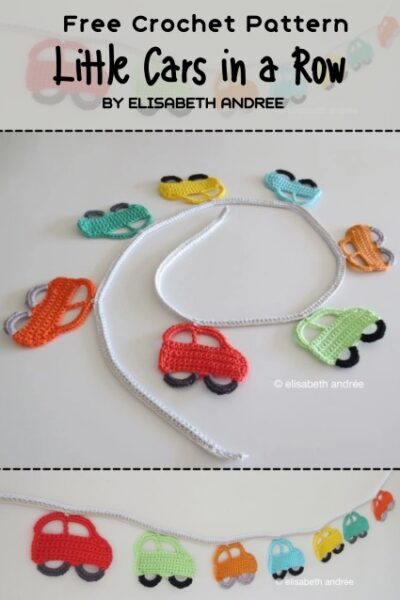 Free Crochet Pattern Little Cars in a Row