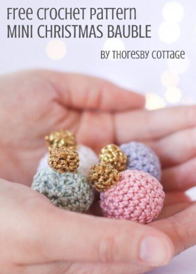 Free Crochet Pattern Mini Christmas Bauble