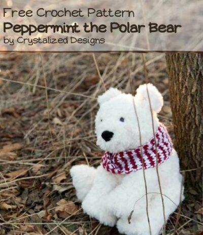 Free Crochet Pattern Peppermint the Polar Bear