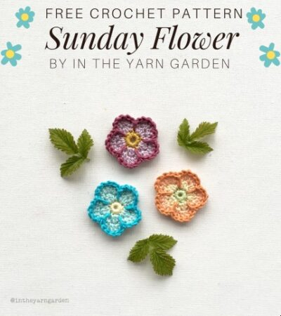 Free Crochet Pattern Sunday Flower