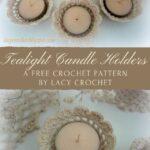 Free Crochet Pattern Tealight Candle Holders