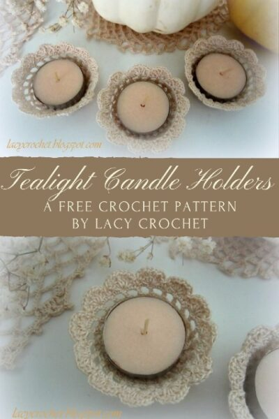 Free Crochet Pattern Tealight Candle Holders